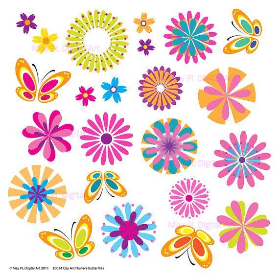 free scrapbook flower clipart - photo #14