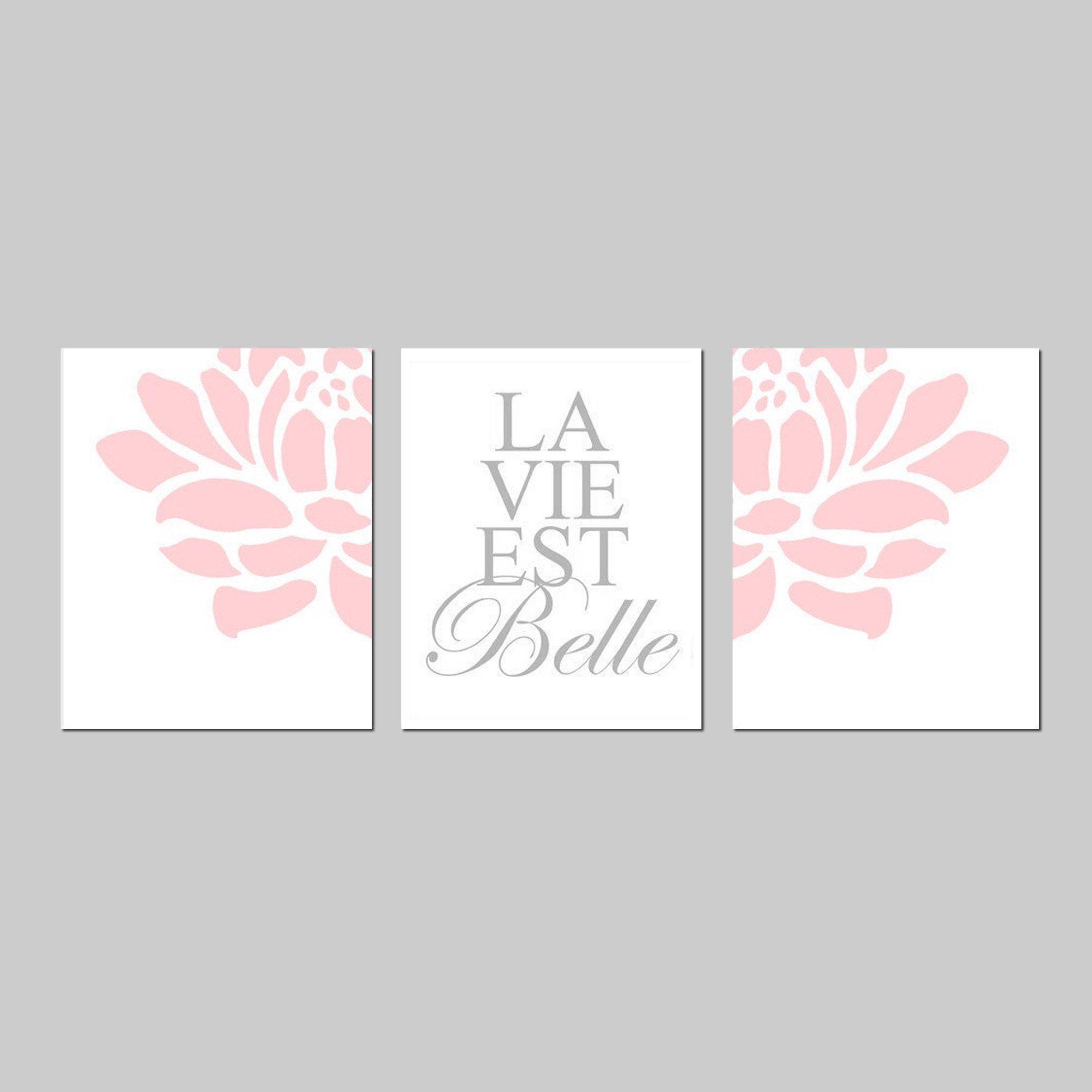 La Vie Est Belle French Quote Prints Girls Nursery Quote Etsy Quote Prints Nursery Quotes Girl Nursery