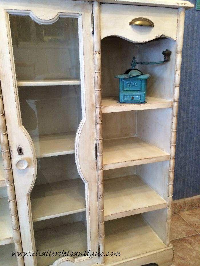 Pintar mueble r stico en blanco paso a paso como embellecer una madera r stica con una p tina - Muebles rusticos en blanco ...