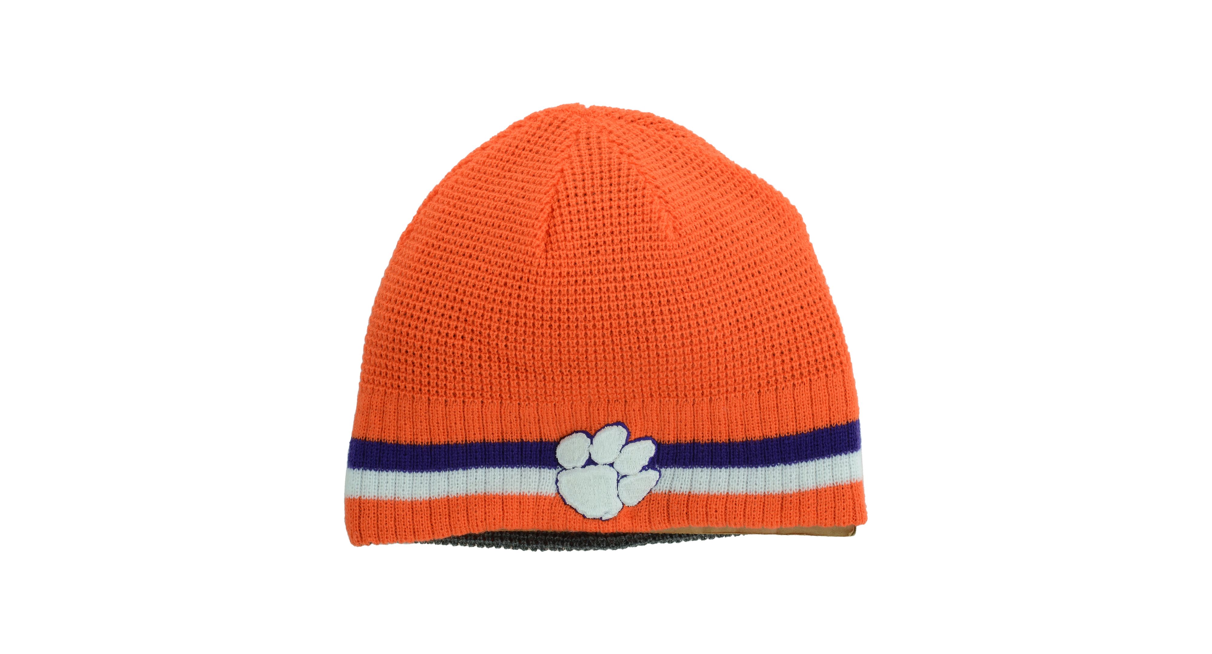 Top of the World Clemson Tigers Sixer Reversible Knit Hat  1efa8283c89
