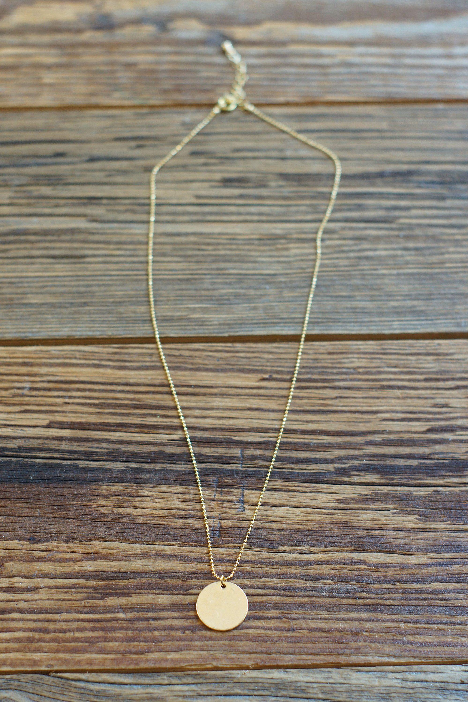 Photo of Goldkette mit großen Goldplatten / 18 Karat vergoldet / einfache Goldkette / Goldscheibenkette / minimalistische Kette