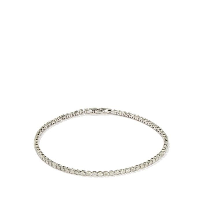 2.50cts Diamond 9K White Gold Tomas Rae Bracelet