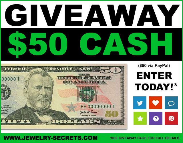 ▻ ▻ 😊 Enter #Win #Jewelry #Giveaway #Contest $50 CASH