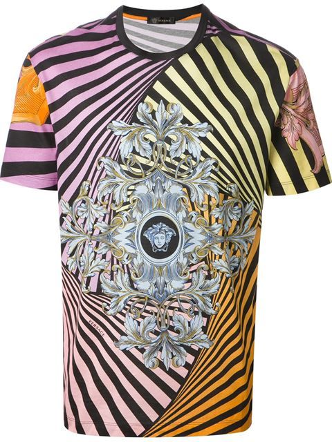 Shop Versace Medusa T-shirt in Jean Pierre Bua from the world s best  independent boutiques at farfetch.com. Over 1000 designers from 60 boutiques  in one ... 3539f9d94f5
