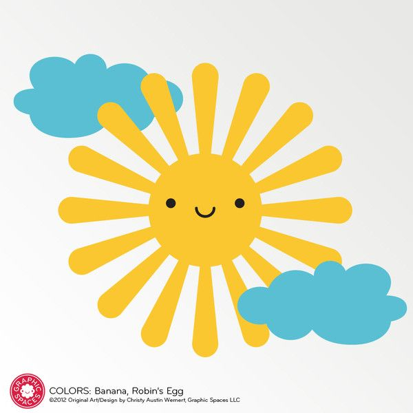 Happy Sun Wall Decal | Wall decals, Wall colors and Walls