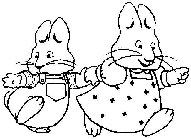 Coloring page Max and Ruby 7 Harleys 4th b day party