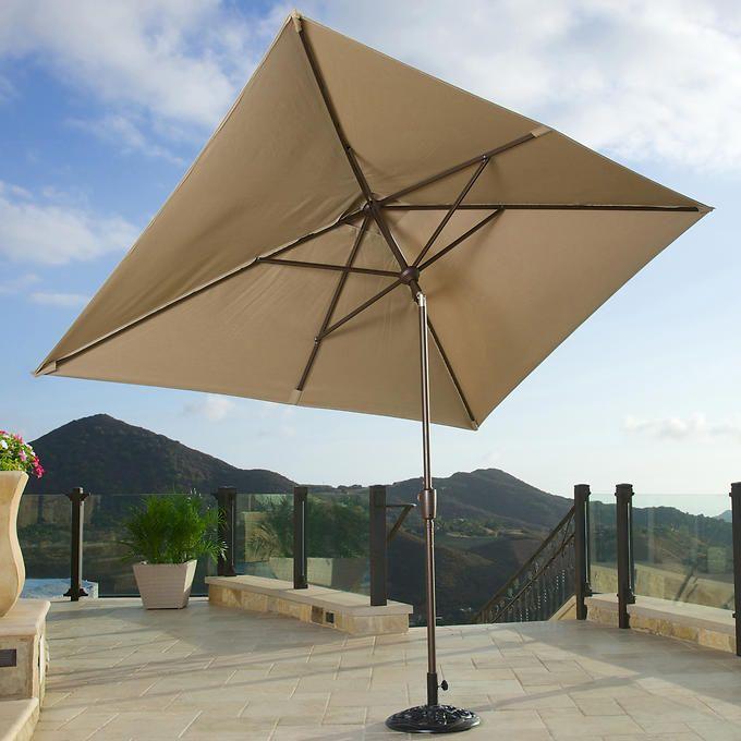 Portofino 6.5' x 10' Dining Umbrella in Heather Beige ...