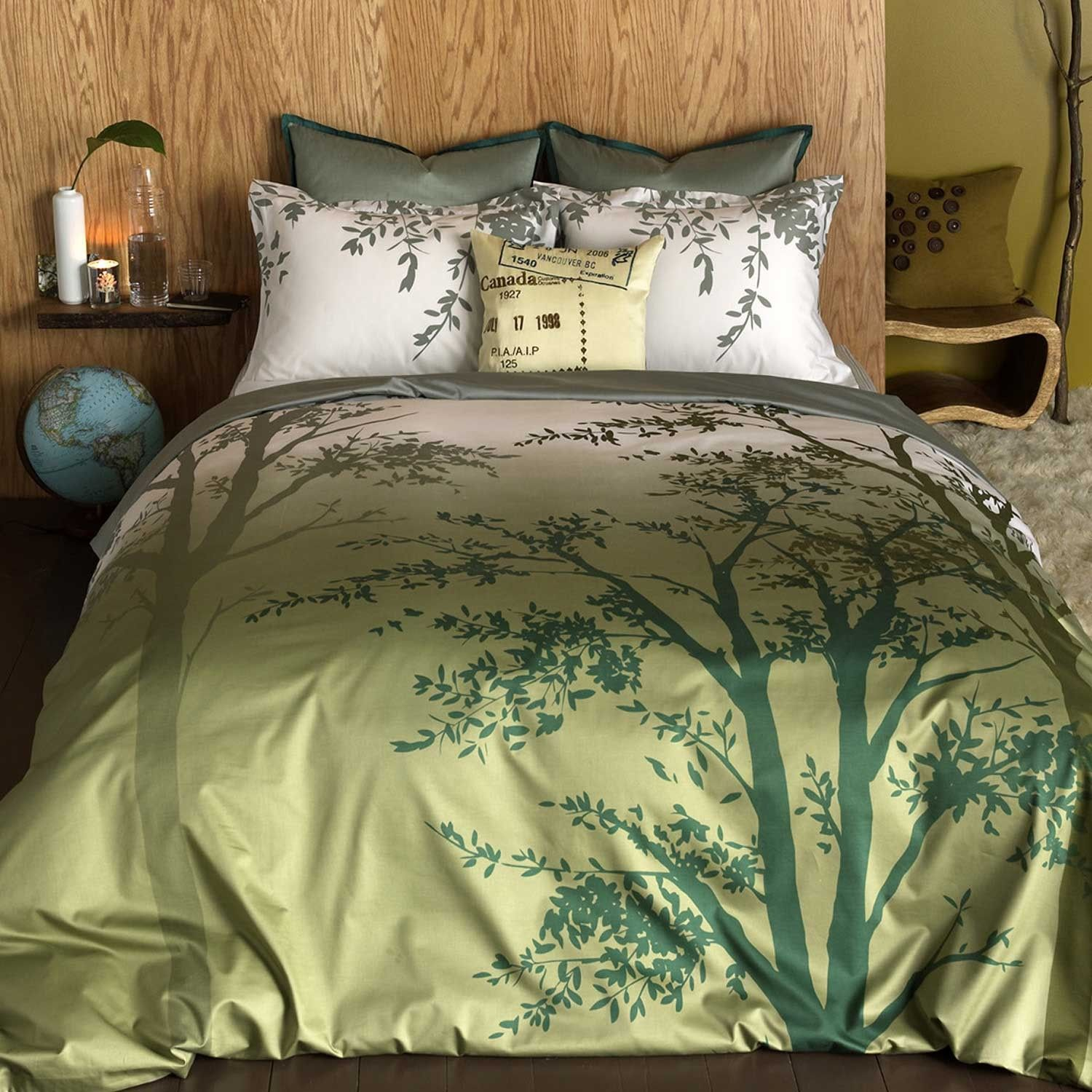 Amelie Twin Duvet Cover Set Find Your Way In The Earthy Green Tones Of This