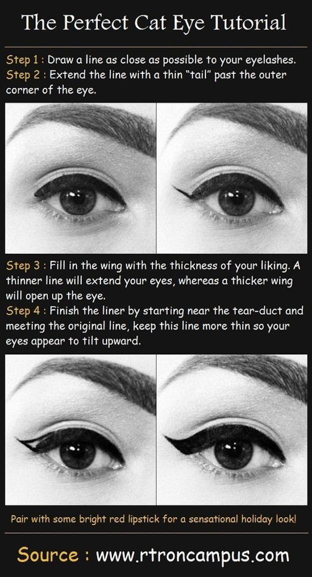 FINALLY perfect a heavier cat eye. And FINALLY perfect a heavier cat eye. | 15 Easy Hacks For Perfect EyelinerAnd FINALLY perfect a heavier cat eye. | 15 Easy Hacks For Perfect Eyeliner