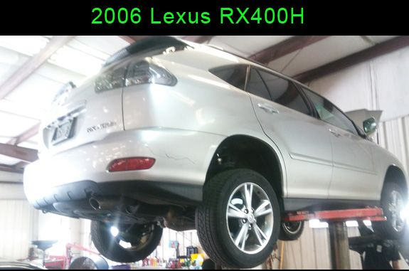 1of2 0525 Lexus RH400H rolls in for an oil change. During our ...