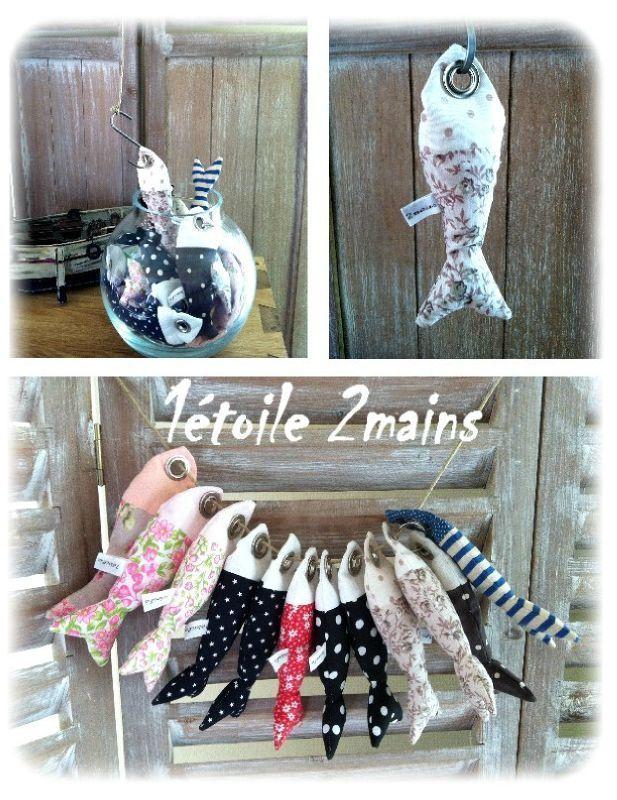 Les petits poissons version porte cl couture for Zimmerdeko london