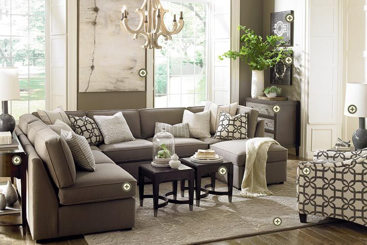 interesting accent chair living room ideas | Bassett Rooms We Love! Beckie sectional, Cosmopolitan ...