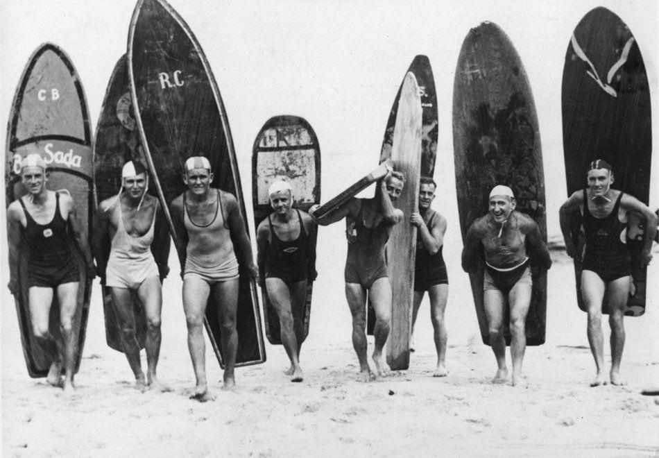 Surf girls Vintage  Art Print Poster  Black White Surfing Boards
