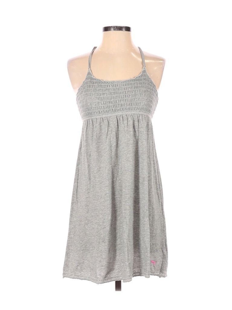 Victoria S Secret Pink Casual Dress Mini Gray Solid Dresses Used Size Small In 2021 Pink Dress Casual Junior Dresses Dresses [ 1024 x 768 Pixel ]
