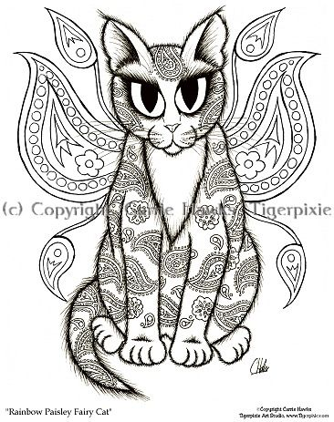 cat color pages printable | cat and kitten coloring pages free аnd ...