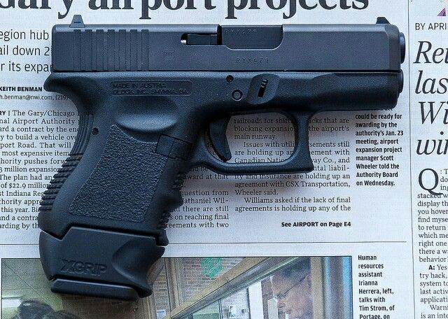 Glock 26 W Xgrip Magazine Extension Glocks Rule Guns Hand Guns