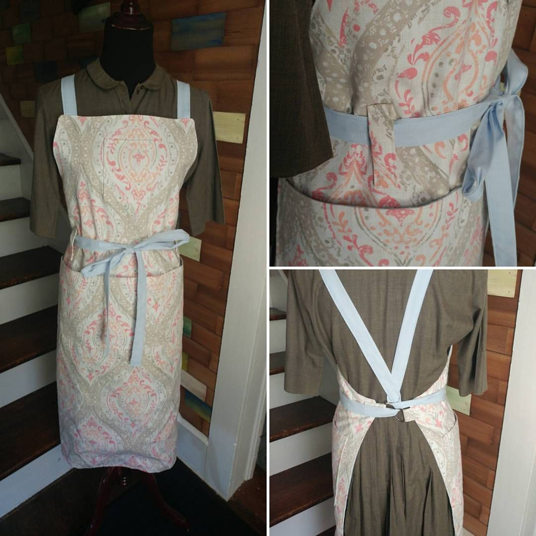 Garden Apron, Criss Cross Back, Belt Loops And Many Pockets By  CranberryAcre On Etsy