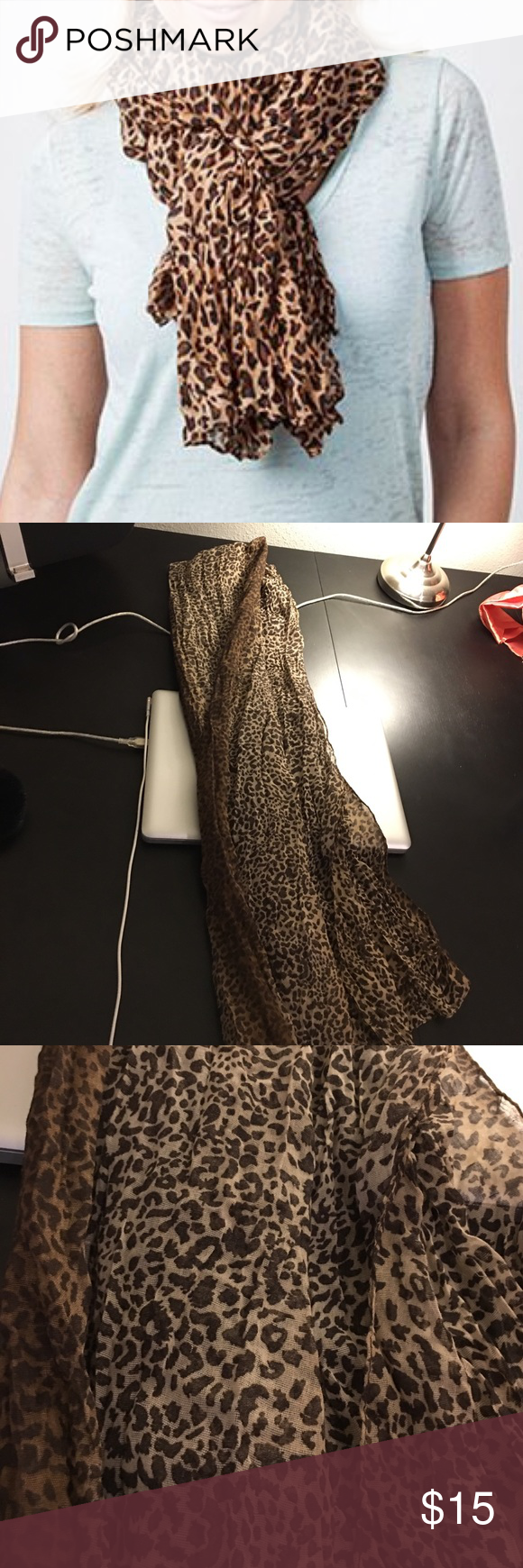 🐆 Leopard Print Scarf Brand new. Never worn. Leopard print super long scarf. Will definitely keep you warm. Charlotte Russe Accessories Scarves & Wraps