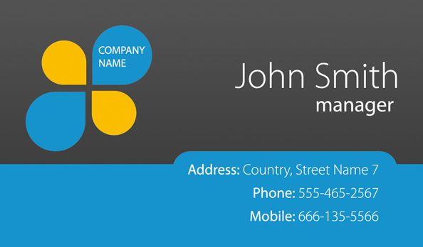 Modern Business Cards u2013 Simple Card Template Free Premium - id card psd template