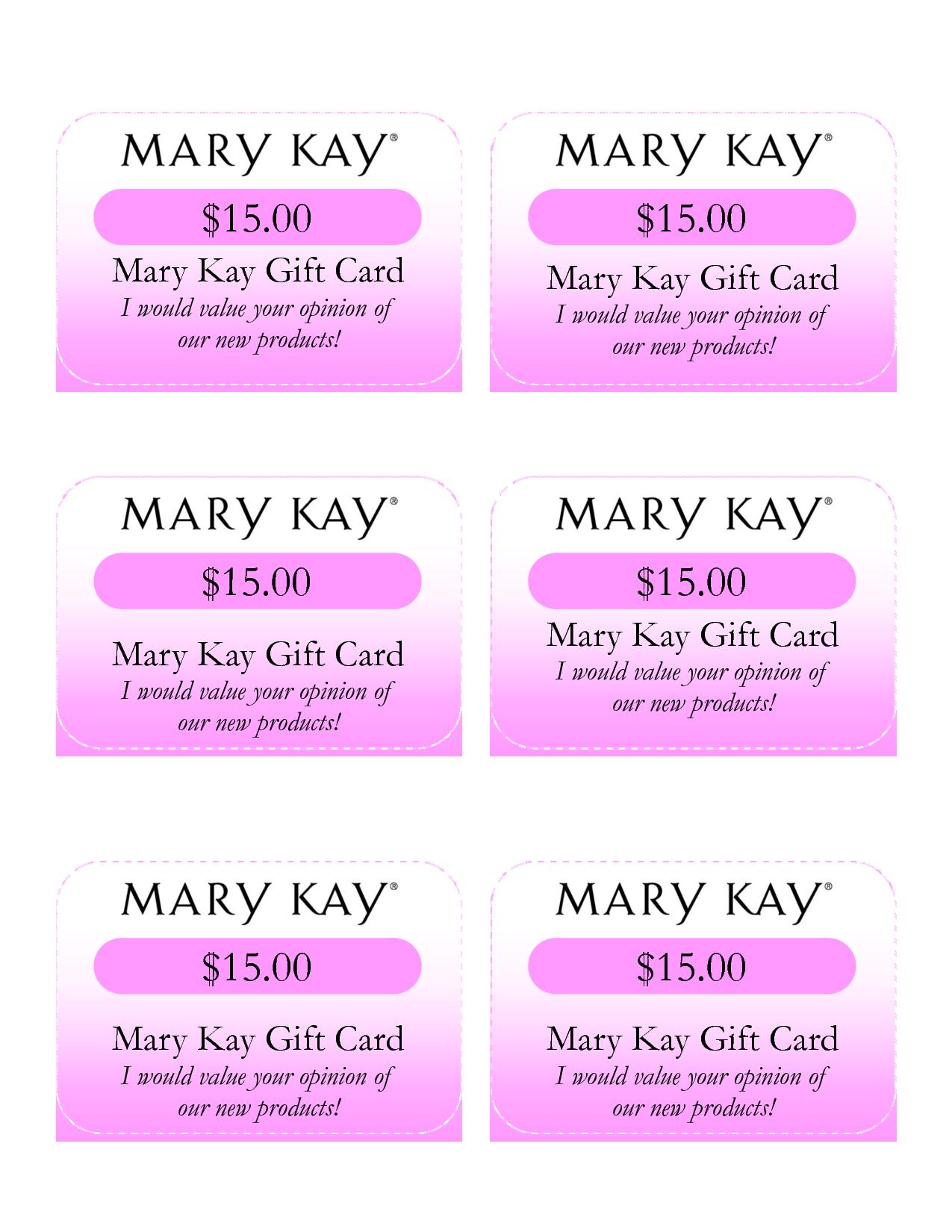 Mary Kay Birthday Certificates Mary Kay Gift Card I Would Value