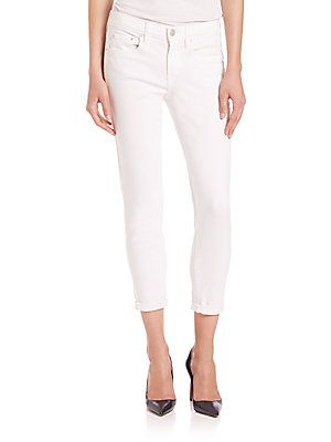 Vince Mason Relaxed Rolled Jeans - White