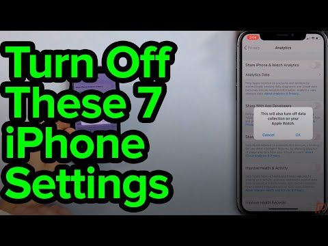 7 iPhone Settings You Need To Turn Off Now YouTube