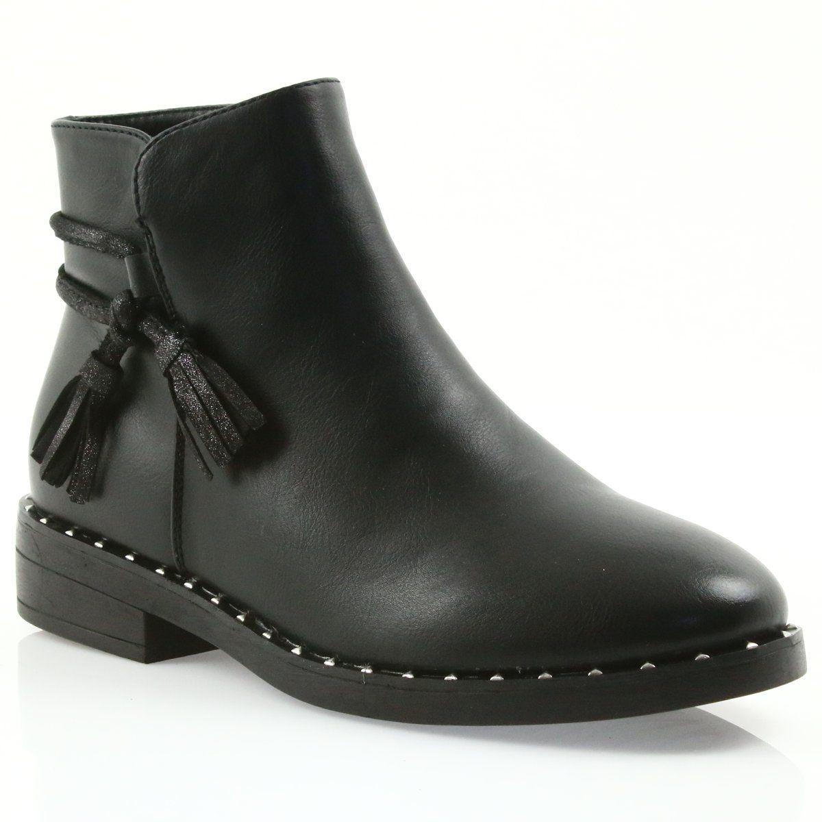 Botki Z Fredzlami Filippo Czarne 461 Boots Boot Shoes Women Women Shoes