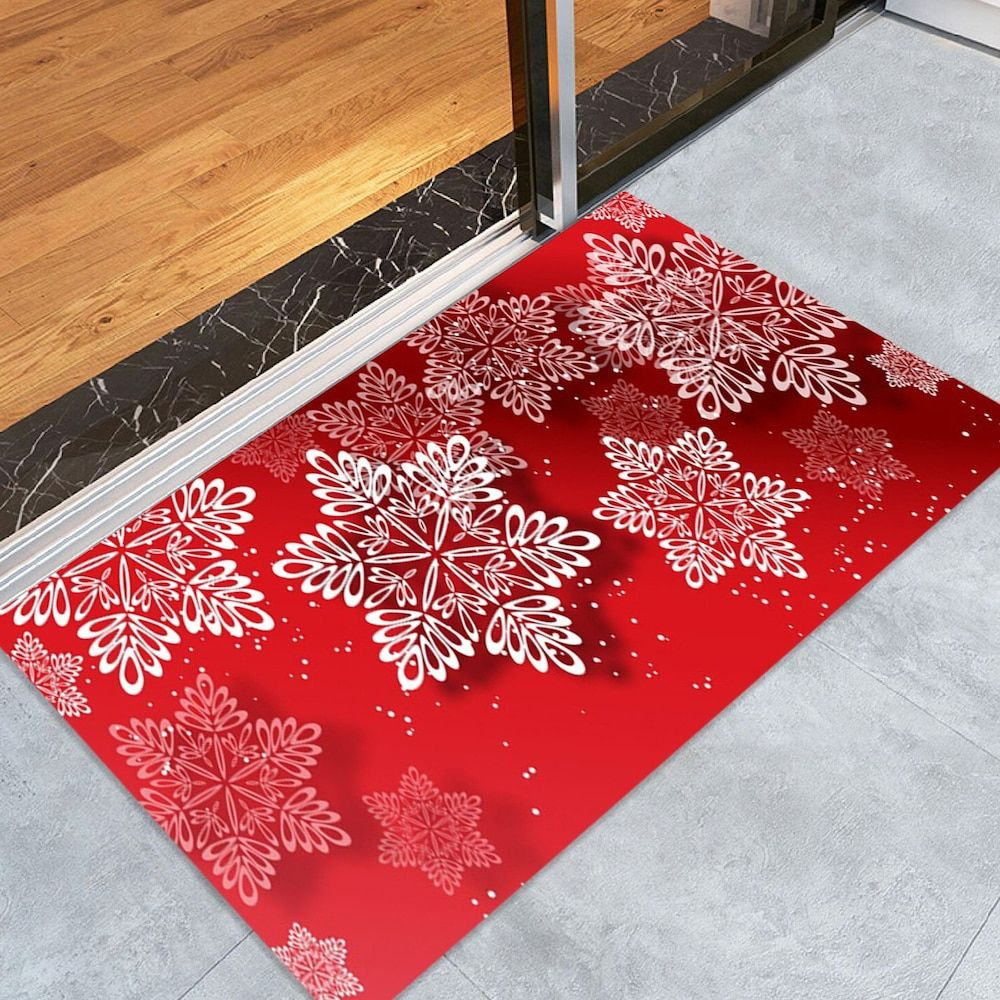 Christmas Snowflakes Pattern Indoor Outdoor Area Rug Home Decor