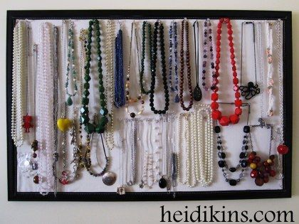 bulletin board necklace organizer Things to Make Pinterest