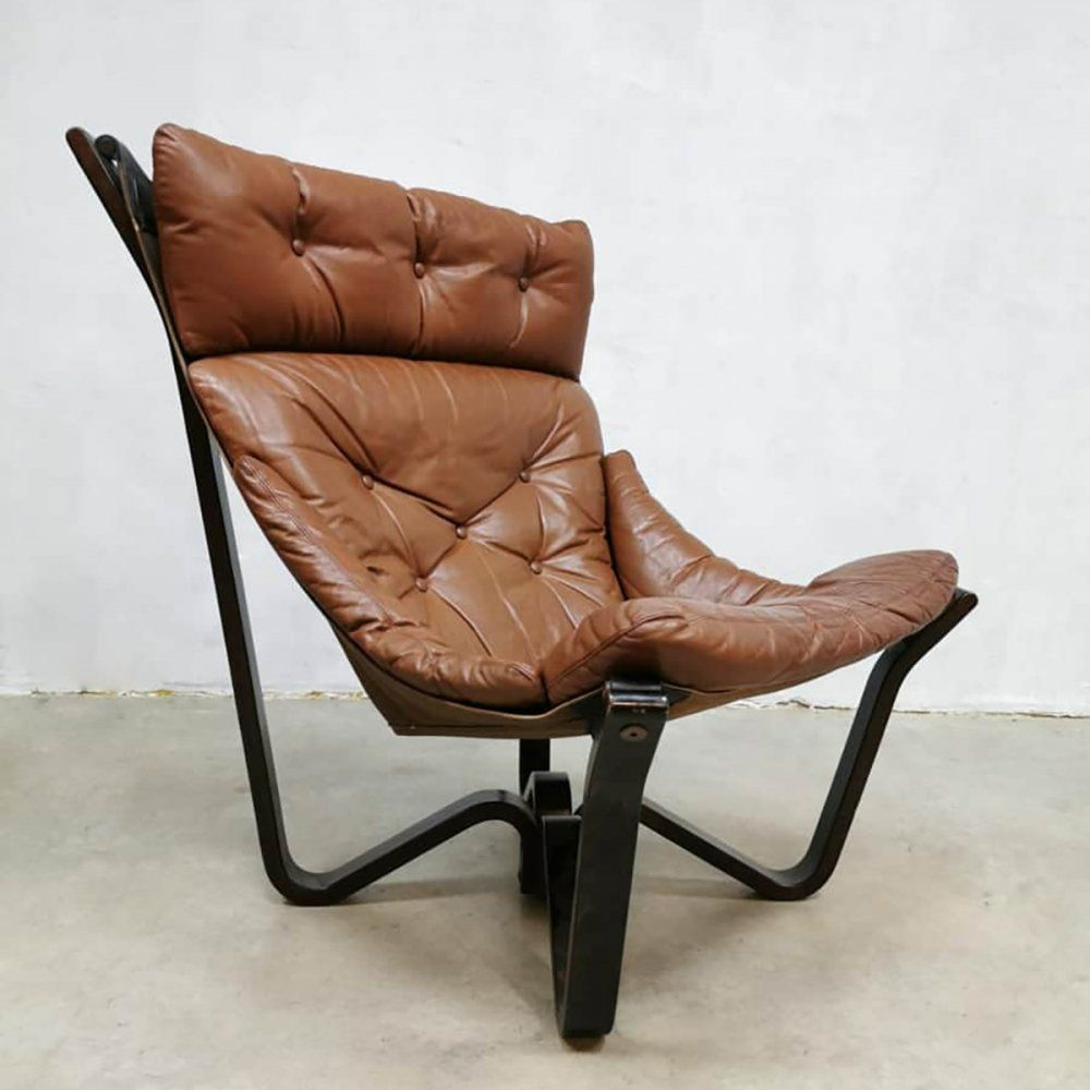 For Sale Vintage Scandinavian Design Lounge Chair By Jim Myrstad For Brunstad Lounge Chair Leather Lounge Chair