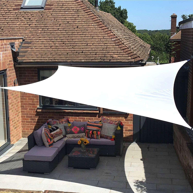 White Garden Sun Screen Canopy A Great And Stylish Alternative To The Garden Umbrella Patio Garden Gazebo Shade Sail Sun Canopy Wate Outdoor Sun Shade