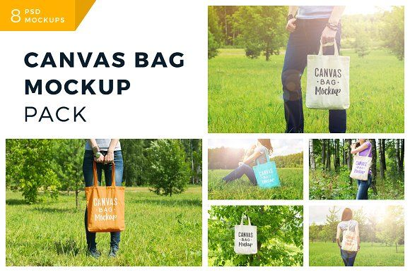 Canvas Bag Mockup Pack by Bulbfish Design on @creativemarket