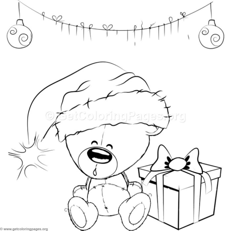 Cute Christmas Teddy Bear Coloring Pages Getcoloringpages Org Teddy Bear Coloring Pages Bear Coloring Pages Unicorn Coloring Pages