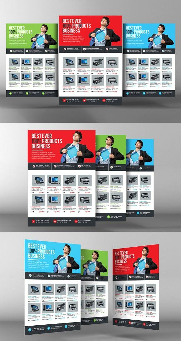 Product Flyer Template Creative Business Card Templates Business