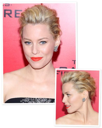 New Year S Eve Hair Idea A Soft Chignon Like Elizabeth Banks Short Hair Updo New Year S Eve Hair Hair Styles