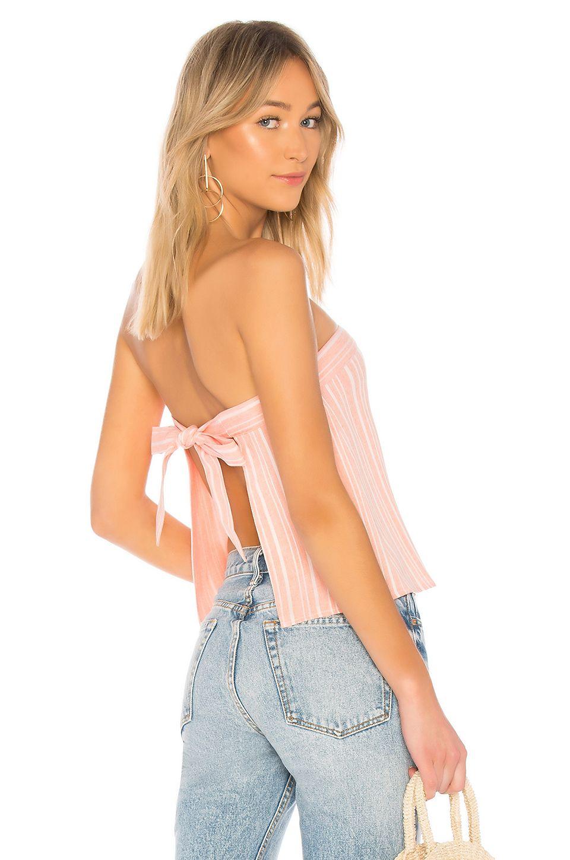 3db7af7643a superdown Hannah Tie Back Crop Top in Pink Stripe | REVOLVE ...