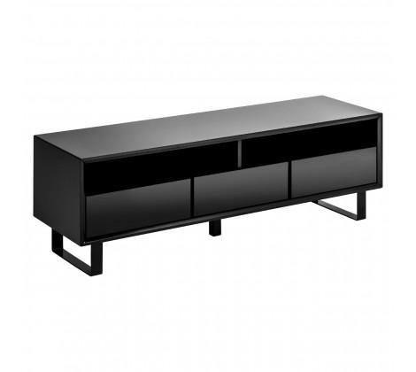 Photo of Moritz High Gloss Media TV Cabinet – White/Black – Black Gloss