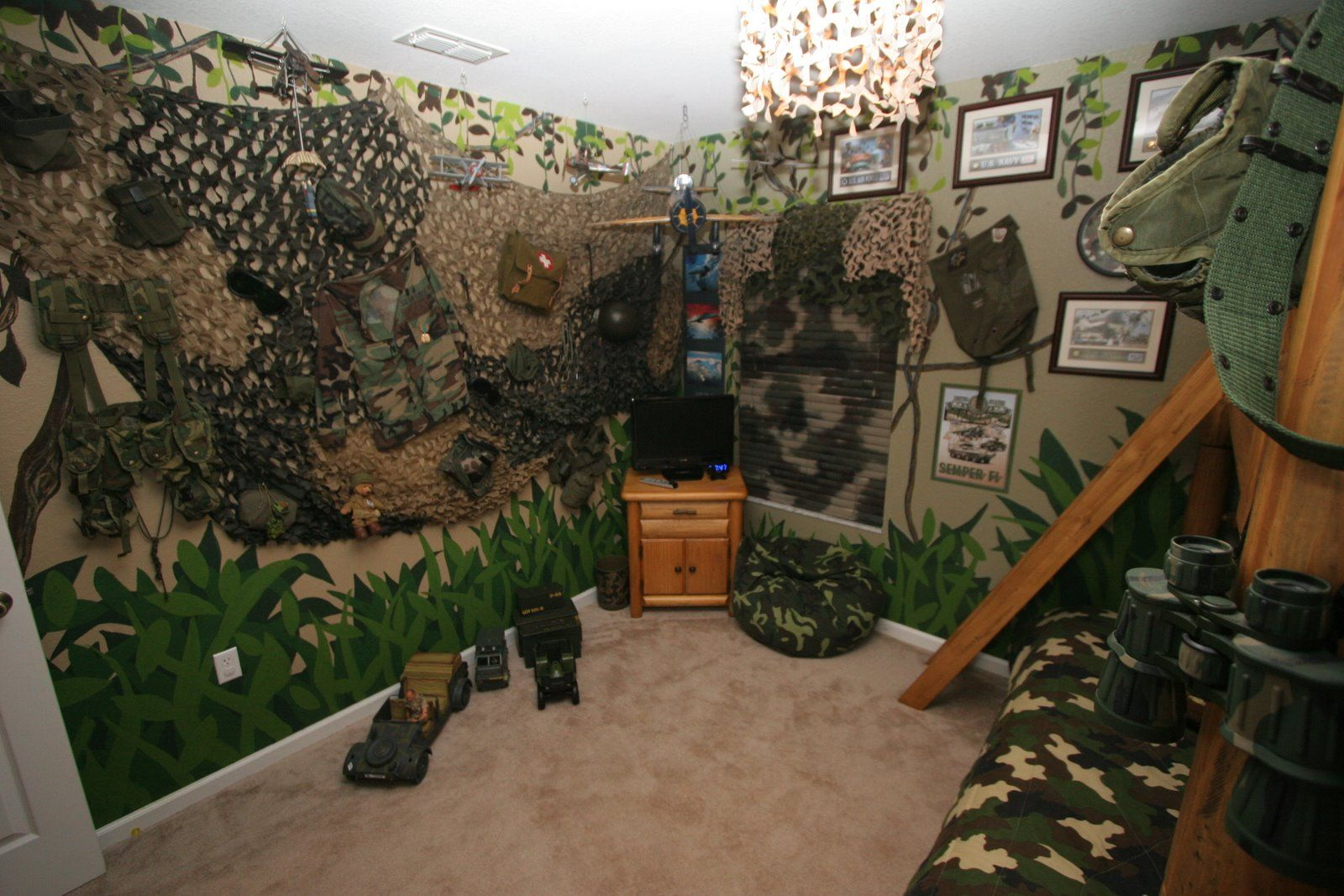 Camouflage decorations for room dsny home 1 pictures for Camouflage bedroom ideas for kids