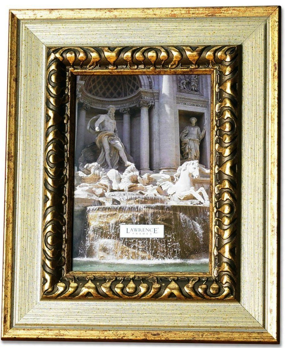 old picture frames | Carved Antique Silver And Gold 8x10 Picture ...