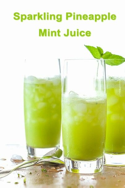 1 fresh pineapple peeled and sliced, 1/4 cup mint