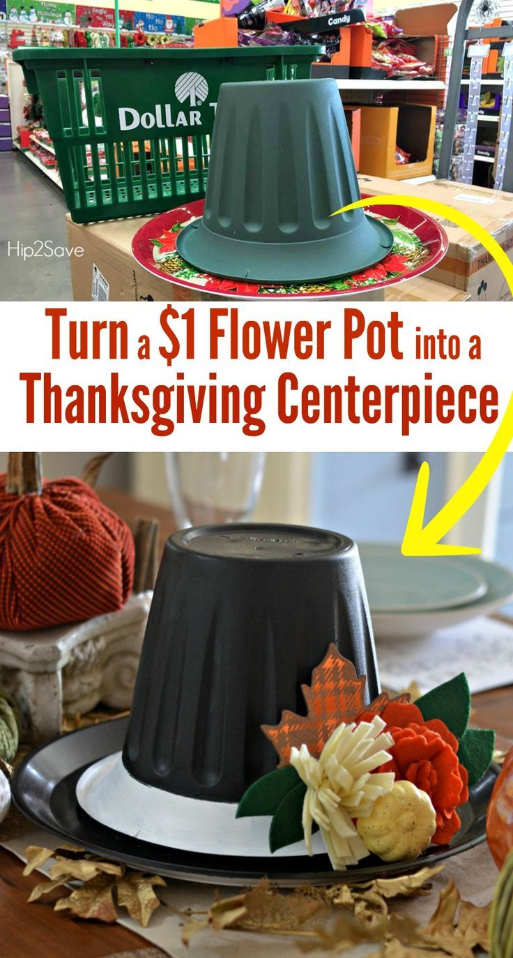 Dollar Store Thanksgiving Hat Herzstück #dollartreecrafts