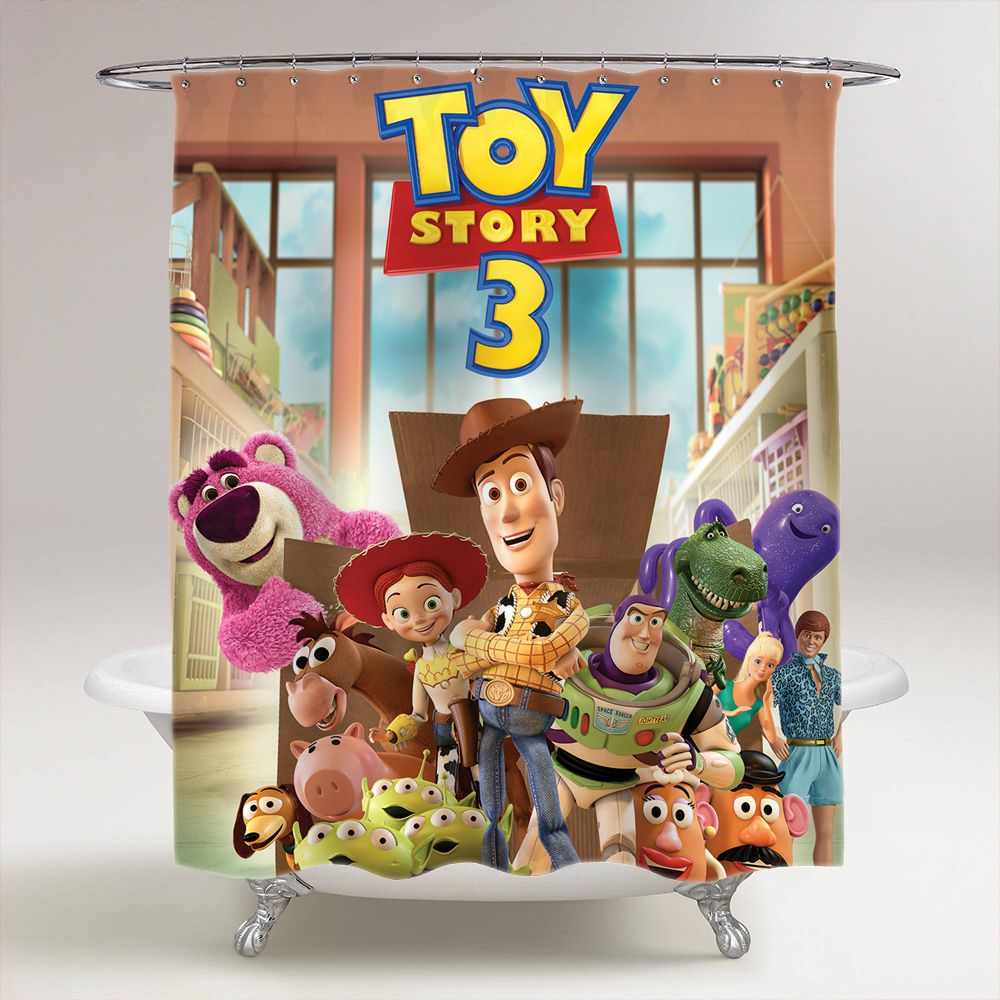 Toy Story 3 Shower Curtain In 2020 Toy Story 3 Toys Toy Story