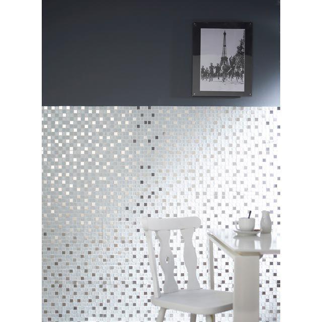 Mosaique Mix Inox Et Verre 32 X 32 Cm Castorama Idee Salle De Bain Decoration Maison Idee Amenagement Cuisine
