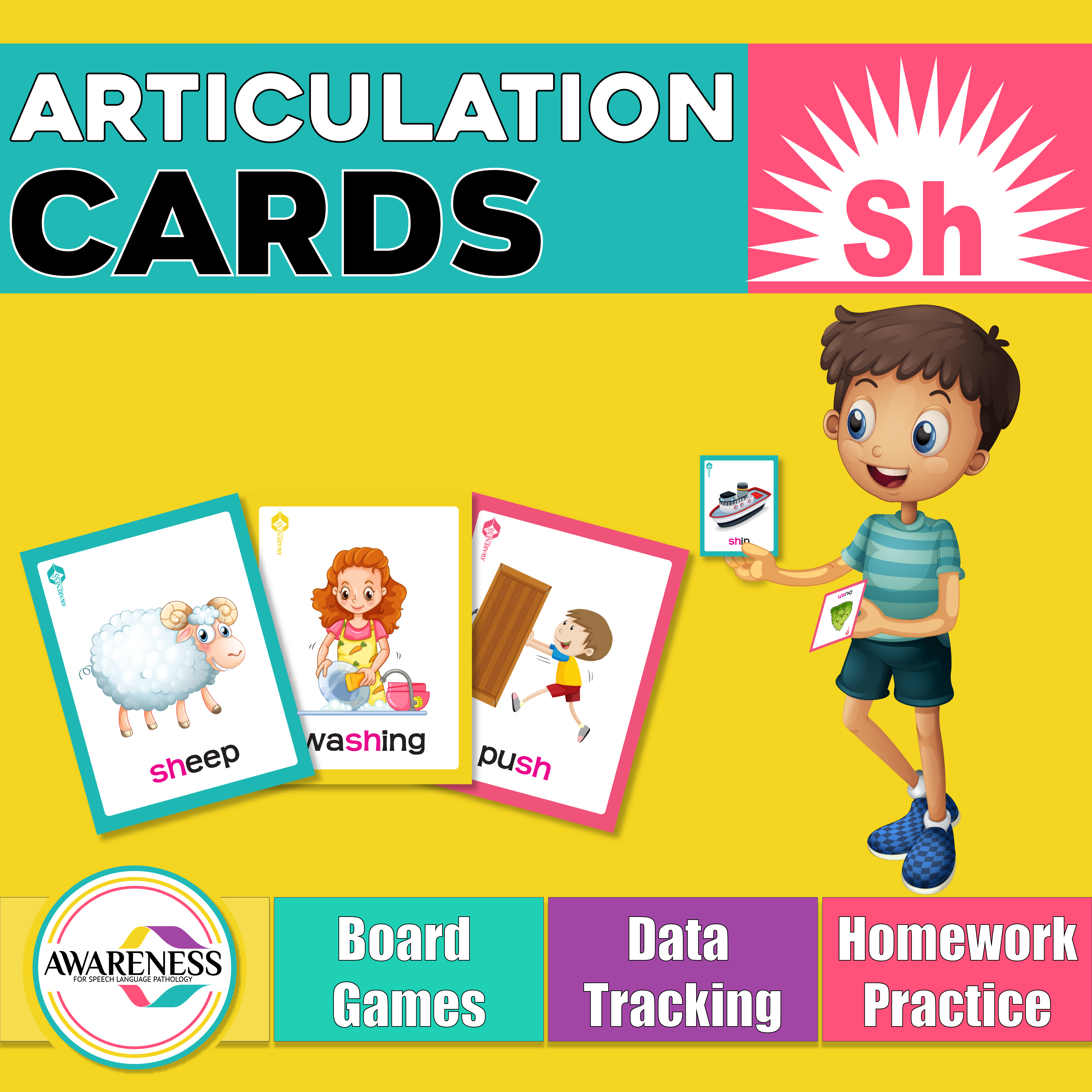 Sh Articulation Cards Worksheets And Activities For
