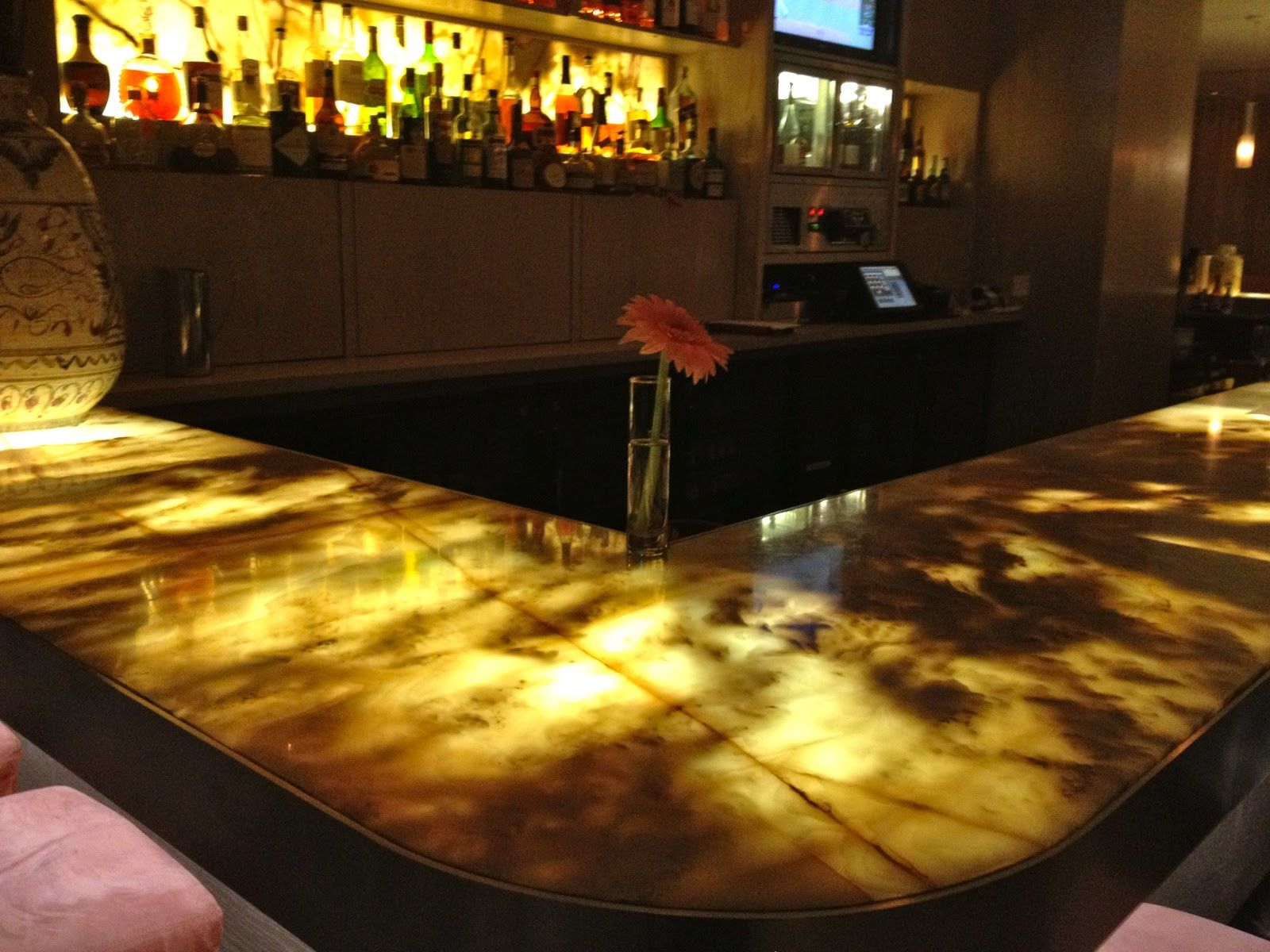 Illuminated Onyx Bar Marble Dining Dining Table Marble Midcentury Modern Dining Table