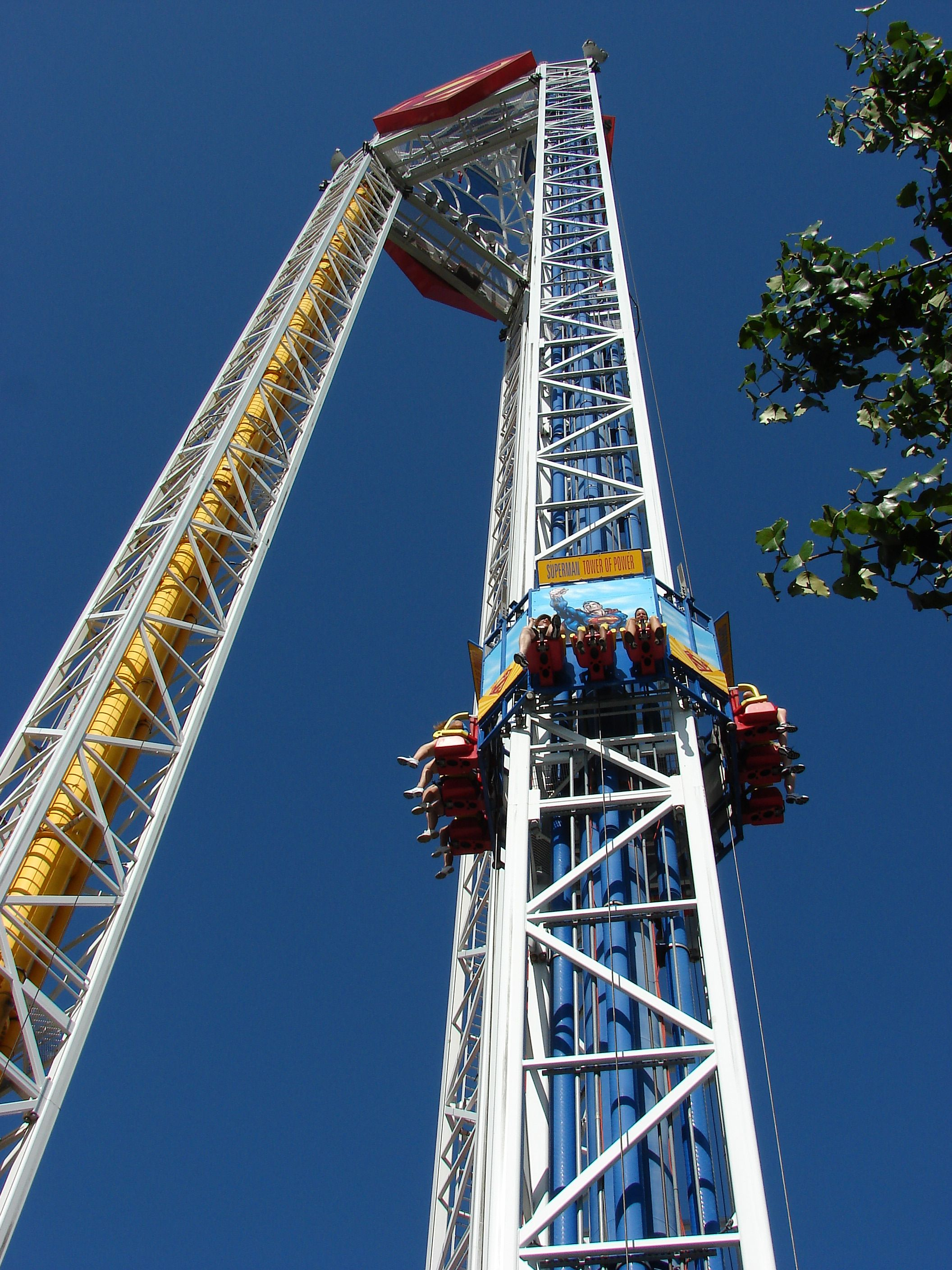 Superman Tower Of Power Ride At Six Flags Over Texas Nightlife Travel Las Vegas Hotels Arlington Hotel