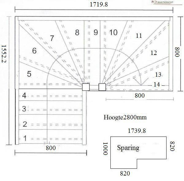 Best Tweekwarten Trappen Stair Plan Small Staircase Stairs 400 x 300