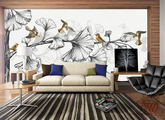 Paroi murale la Nature grand angle arbre fond décran
