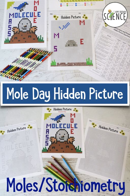 Mole Concept and Stoichiometry Spring-Themed (Color By ...