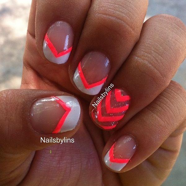 A Neon Orange Design   Nails   Pinterest   Orange design, Neon and ...